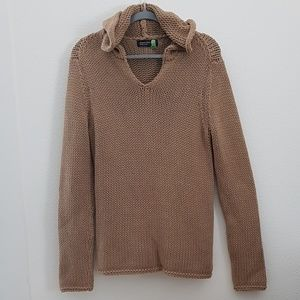 Jones new york signature cable knit hoodie sweater